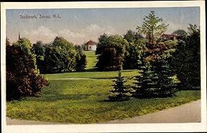 Ansichtskarte / Postkarte Sorau Niederlausitz Ostbrandenburg, Stadtpark