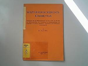 Militärversicherungskommentar : Bundesgesetz über die Militärversicherung vom: Dürr, Karl,