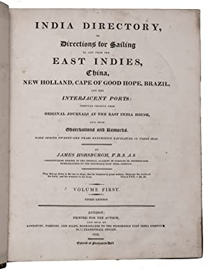The India directory, or, directions for sailing: HORSBURGH, James.