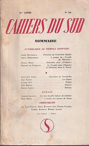 Cahiers du Sud. - 48° Année -: André Rousseaux, Arpag