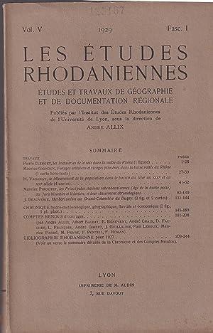 Les Études Rhodaniennes. - Études et Travaux: Pierre Clerguet, Maurice