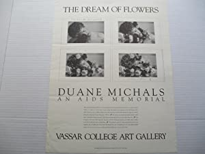 Duane Michals The Dream of Flowers an AIDS Memorial Vassar College 1989 Poster Signed by Artist a...