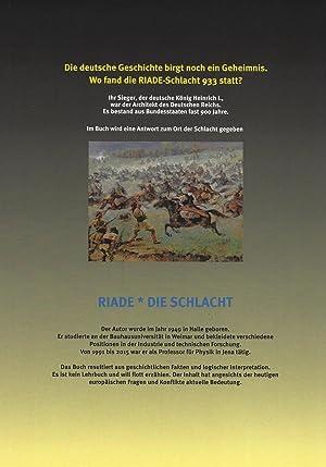 RIADE Die SUCHE nach dem Ort der Ungarn-Schlacht von KÖNIG HEINRICH I. im Jahr 933: Otto R. Hofmann