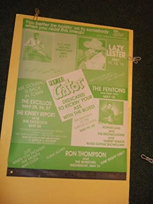 Pop The Gator Concert Blues Poster Kitchener Ontario ( May 1989 )(advertises A C Reed and His Spa...