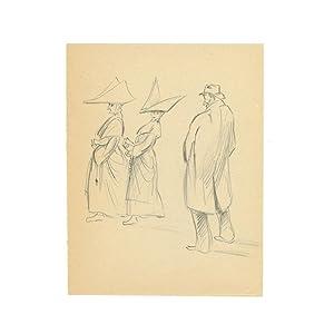 Dessin original - Croquis original et Suite: ANONYME [Georges HOFFMAN