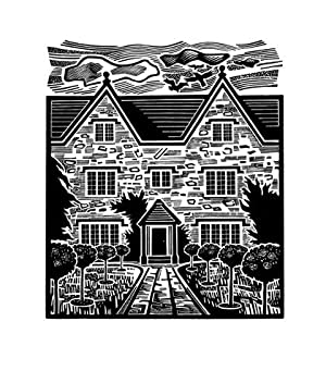 Wood-engraving of Kelmscott Manor,