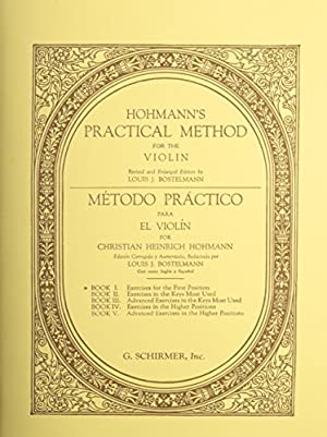 "PRACTICAL METHOD FOR THE VIOLIN BOOK 1: Christian Heinrich Hohmann"","