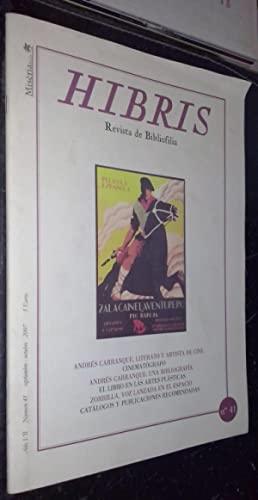 Hibris. Revista de bibliofilia. Año VII. Nº: REVISTA: