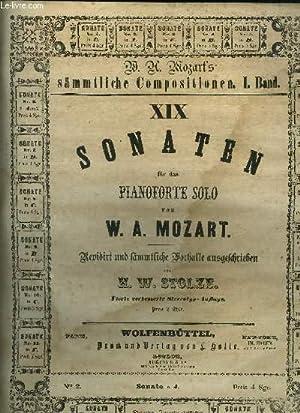Sonate pour piano- Sonaten fur das pianoforte: Mozart W.A./ Stolze