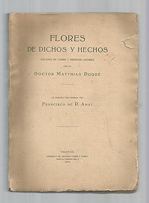 Flores de dichos y hechos sacados de: DUQUE, Matthias:
