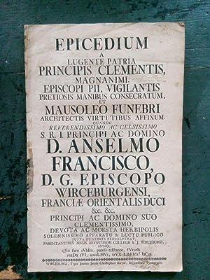 Epicedium a lugente patria principis clementis, magnanimi,: O. Verf.