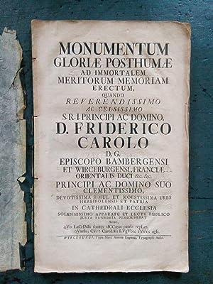 Monumentum gloriae posthumae ad immortalem meritorum memoriam: O. Verf.