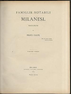 Famiglie notabili milanesi: cenni storici e genealogici: CALVI Felice, a