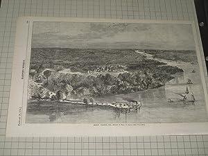"1874 Harper's Weekly Engraving of ""Mount Vernon"": Theo. R. Davis"