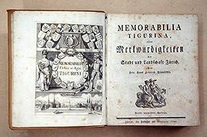 Memorabilia Tigurina, oder Merkwürdigkeiten der Stadt und: Bluntschli, Hans Heinrich