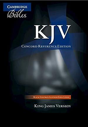 KJV Concord Reference Bible, Black Edge-Lined Goatskin