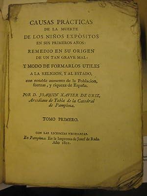Causas prácticas de la muerte de los: Joaquín Xavier de