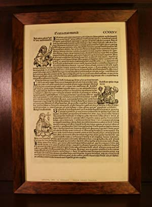 An original leaf from the Nuremberg Chronicle: Hartmann Schedel