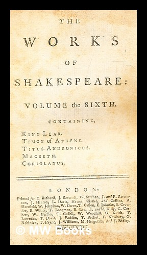 The works of Shakespeare : in eight: Shakespeare, William (1564-1616)