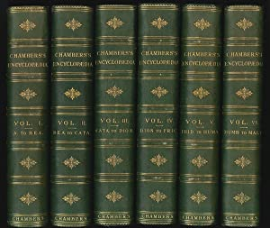 Chambers`s Encyclopaedia. A dictionary of knowledge.