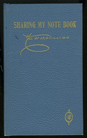 SHARING MY NOTE BOOK: Trovillion, Hal W.