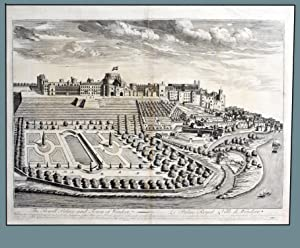 THE ROYAL PALACE AND TOWN OF WINDSOR ( Bird's Eye View of the Royal Palace and Town of Windsor )