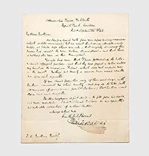 Autograph letter signed.: DICKENS, Charles.