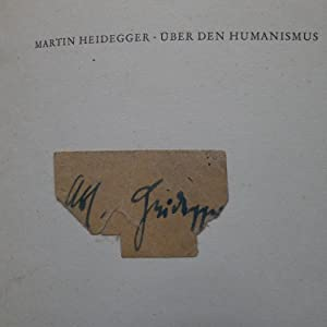 Über den Humanismus,: Heidegger, Martin: