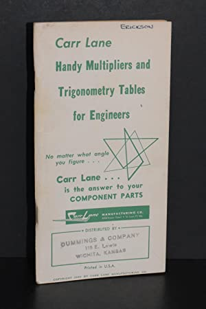 Handy Multipliers and Trigonometry Tables for Engineers