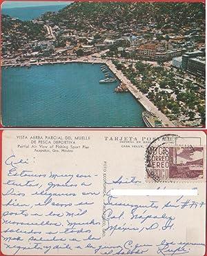 Acapulco (Mex). Vista erea de muelle de