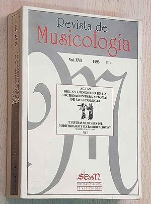 REVISTA DE MUSICOLOGÍA. Vol XVI nº 3.