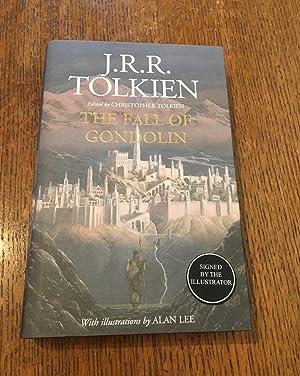 Bild des Verkäufers für THE FALL OF GONDOLIN. Edited by Christopher Tolkien. With Illustrations by Alan Lee. zum Verkauf von Paul Foster. - ABA & PBFA Member.