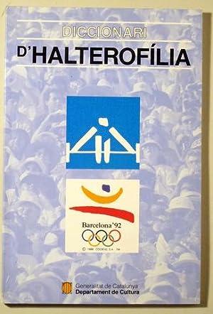 DICCIONARI D'HALTEROFÍLIA - Barcelona 1992