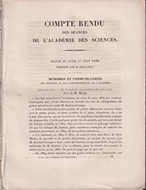 Compte Rendu des Séances de l'Académie des: M. Marès, J.E.