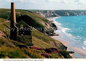 Postkarte Carte Postale 73607301 St Agnes Cornwall Wheal Coates Tin and Copper Mine Chapel Porth ...