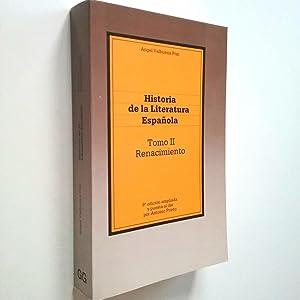 Historia de la literatura española. Tomo II: Ángel Valbuena Prat