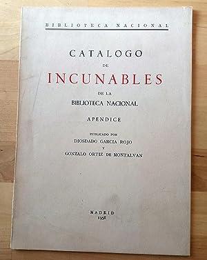 CATÁLOGO DE INCUNABLES DE LA BIBLIOTECA NACIONAL.: Diosdado García Rojo
