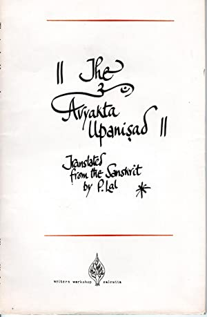 Seller image for The AVYAKTA UPANISHAD for sale by PERIPLUS LINE LLC