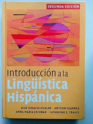 Introducción a la lingüística hispánica: Hualde, José Ignacio;