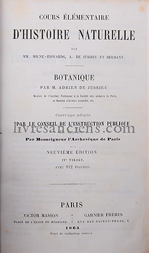 Cours élémentaire d'histoire naturelle - Botanique: JUSSIEU, Adrien de