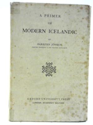 A Primer Of Modern Icelandic: Snaebjorn Jonsson