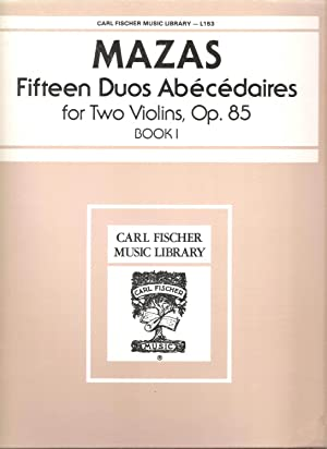 15 Duos Abécédaires for 2 violins, Op.: F. Mazas