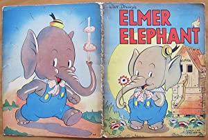 ELMER ELEPHANT - Linen-Like and Sewed -: WALT DISNEY