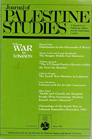 Journal of Palestine Studies, Vol. XII, No.: Sharabi, Hisham (ed.):