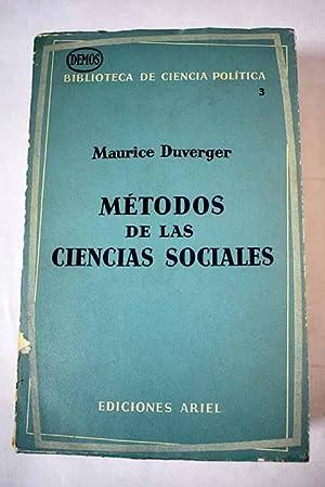 Métodos de las ciencias sociales: Duverger, Maurice