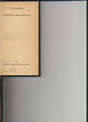 ANSICHTEN DES ROMANS.: Forster, E. M.,