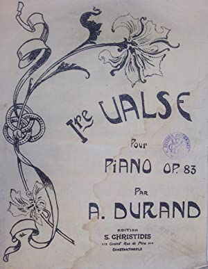 [SHEET MUSIC] Ire Valse pour piano, Op. 83 par.
