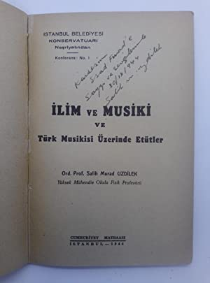 [FIRST SCIENTIFIC CONTRIBUTION to PHYSICS of CONTEMPORARY TURKISH MUSIC and TONAL SYSTEM] Ilim ve...