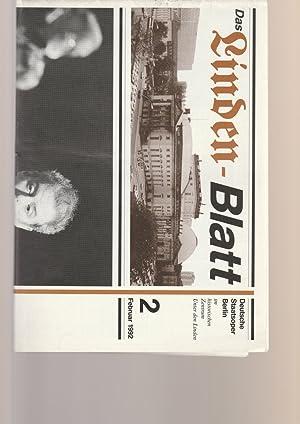 DAS LINDEN-BLATT 2 Februar 1992: Deutsche Staatsoper Berlin