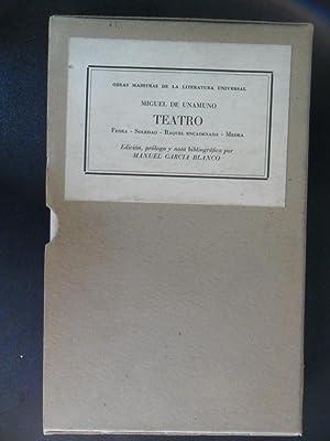 Teatro (Fedra; Soledad; Raquel encadenada; Medea): UNAMUNO, Miguel de